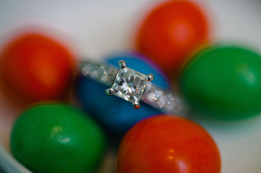 macro ring shot with m&ms