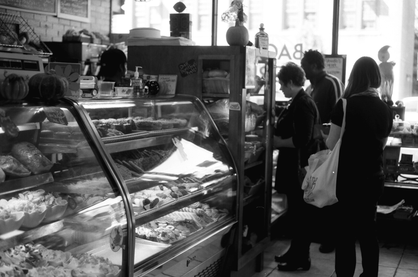 brownstone bagels B&W film