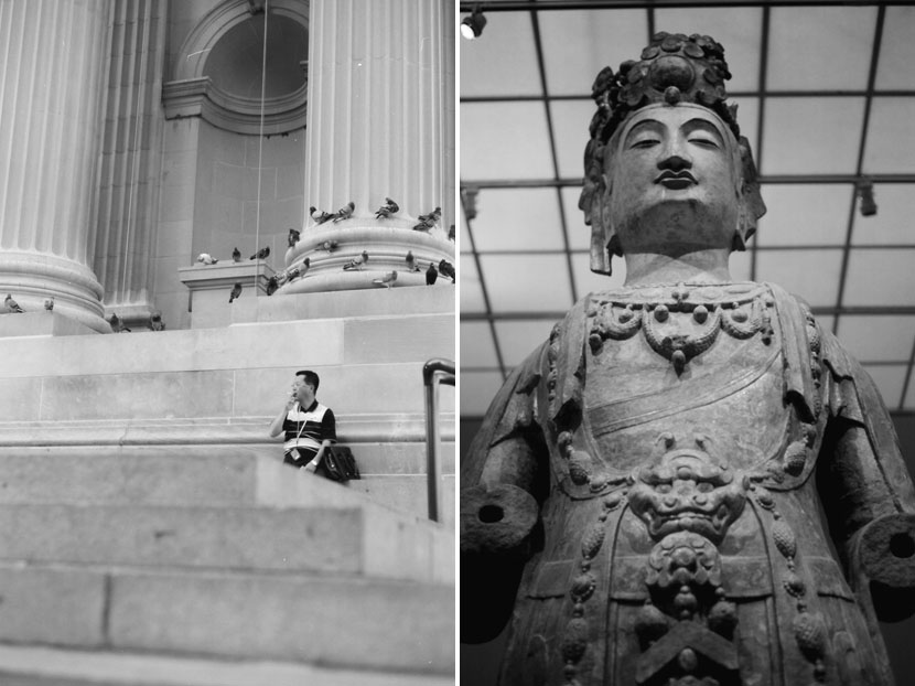b&w photos of the metropolitan museum nyc