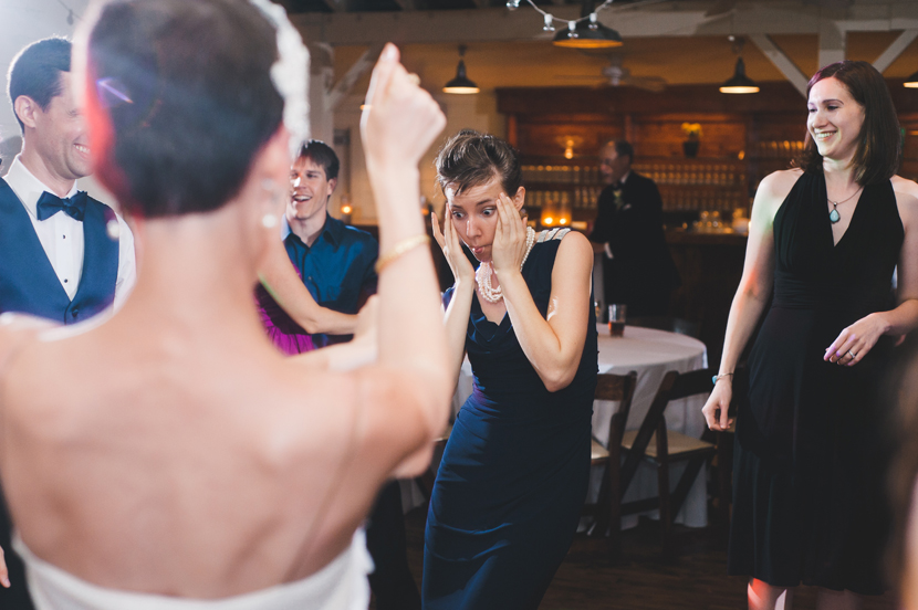 Hilarious wedding reception photos // Elissa R Photography
