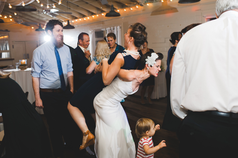 Awesome people dancing at a wedding reception // Elissa R Photography