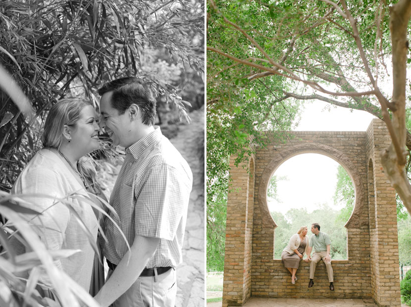 zilker botanical gardens engagement photos