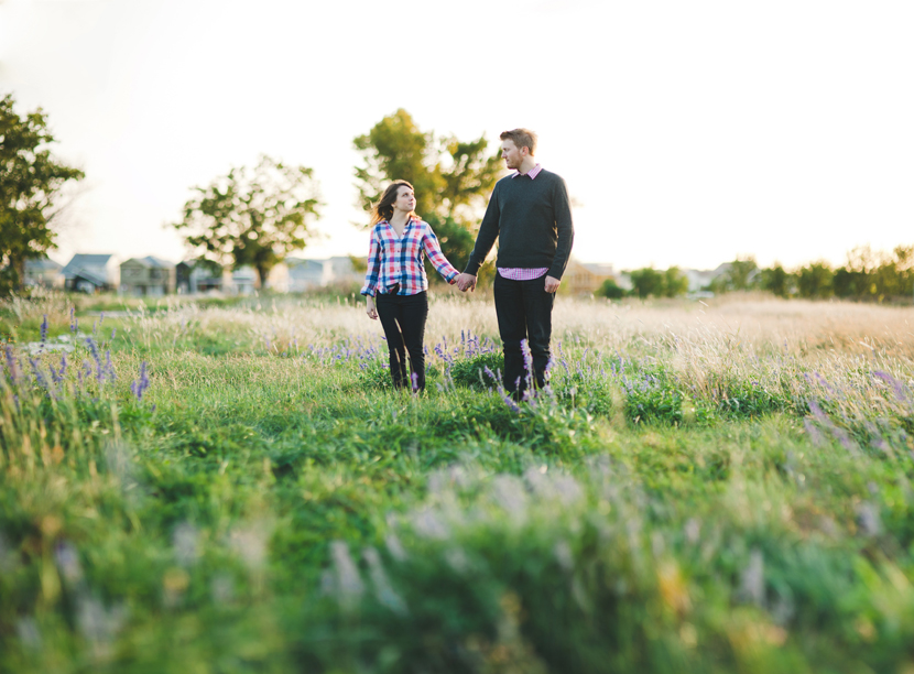 Plaid shirts sweaters jeans for casual engagement session attire // Elissa R Photography