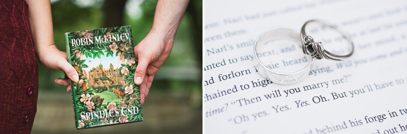 Books included in an engagement session // Elissa R Photography