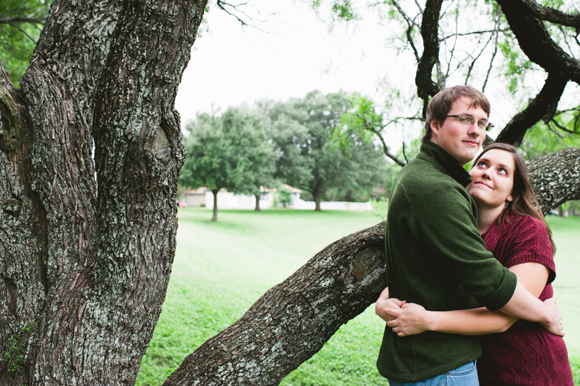 Snuggly couple under a tree // Elissa R Photography