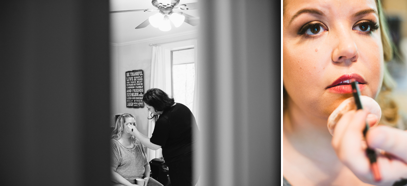 Bride getting makeup done // Elissa R Photography