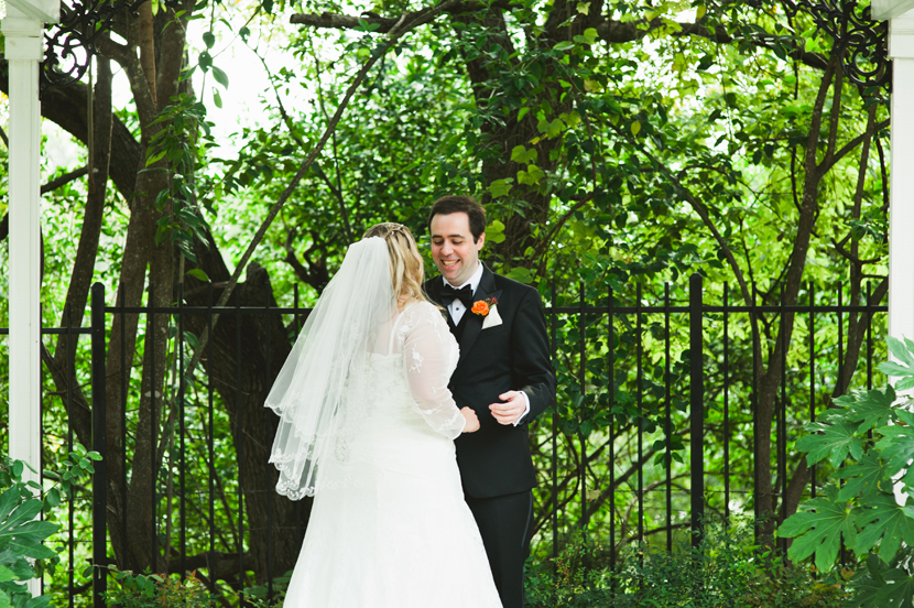 First look in an arbor // Elissa R Photography
