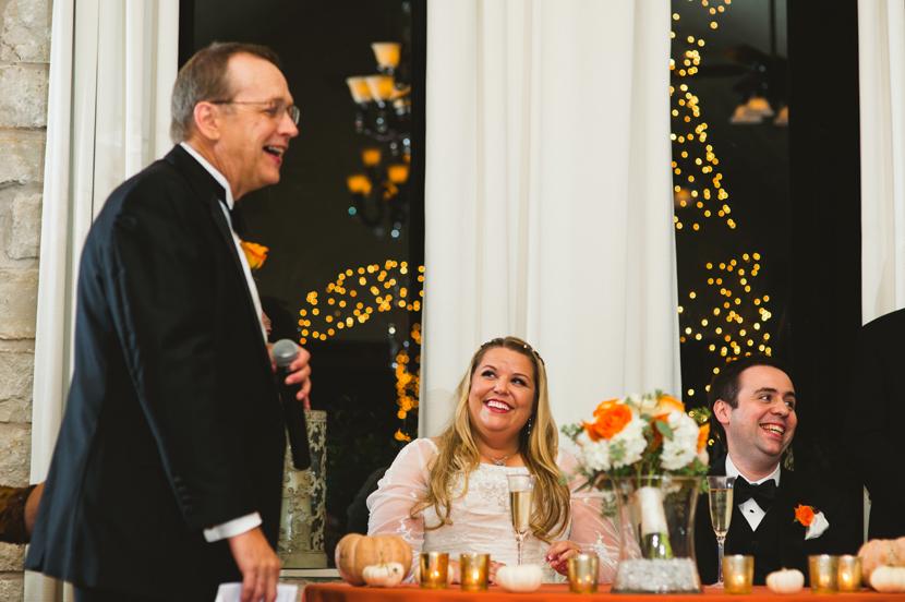 Humor during wedding toasts // Elissa R Photography