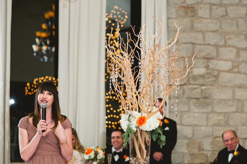 Maid of honor wedding toast // Elissa R Photography