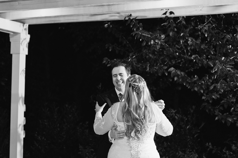 B&W first dance photos // Elissa R Photography