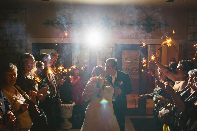 Sparkler exit Round Rock wedding // Elissa R Photography