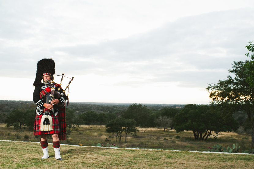 Bagpiper playing at a wedding // Elissa R Photography
