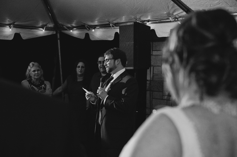 Groom toasts bride // Elissa R Photography