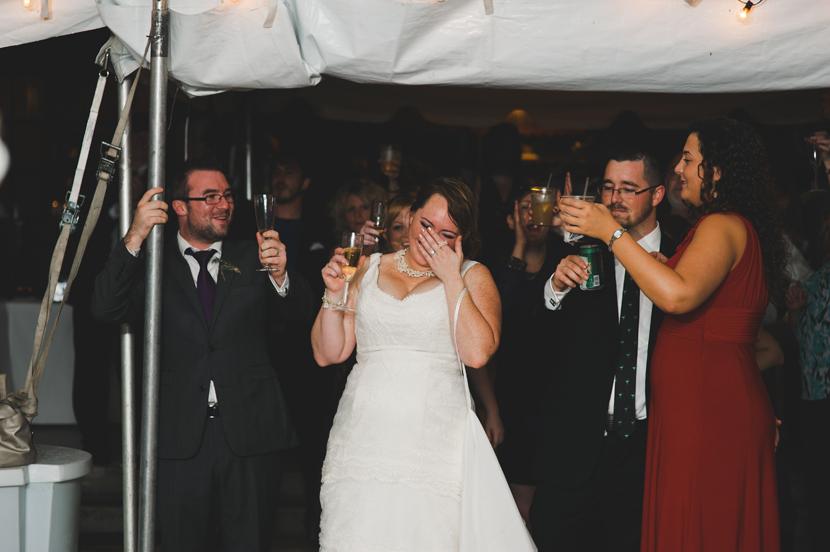 Happy crying bride // Elissa R Photography