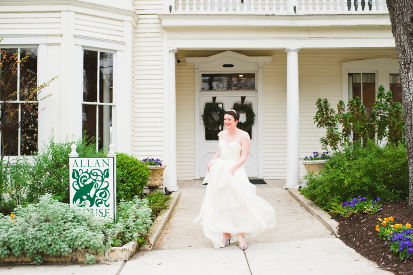 Allan House outdoor bridal session // Elissa R Photography