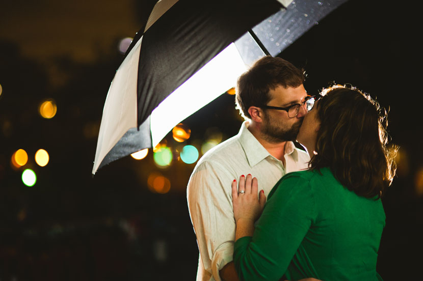 Engagement pictures shot in the dark // Elissa R Photography