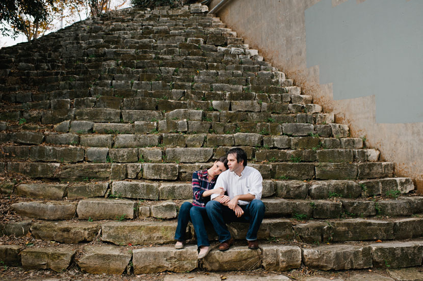 Plaid and jeans for Austin engagement session // Elissa R Photography