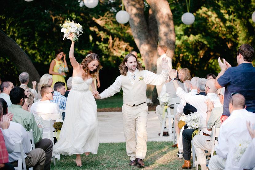 Happy recessional photos Mercury Hall wedding // Elissa R Photography