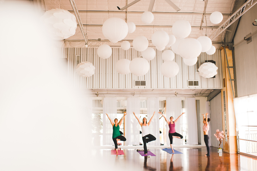 Relax with yoga before your wedding in Austin // Elissa R Photography