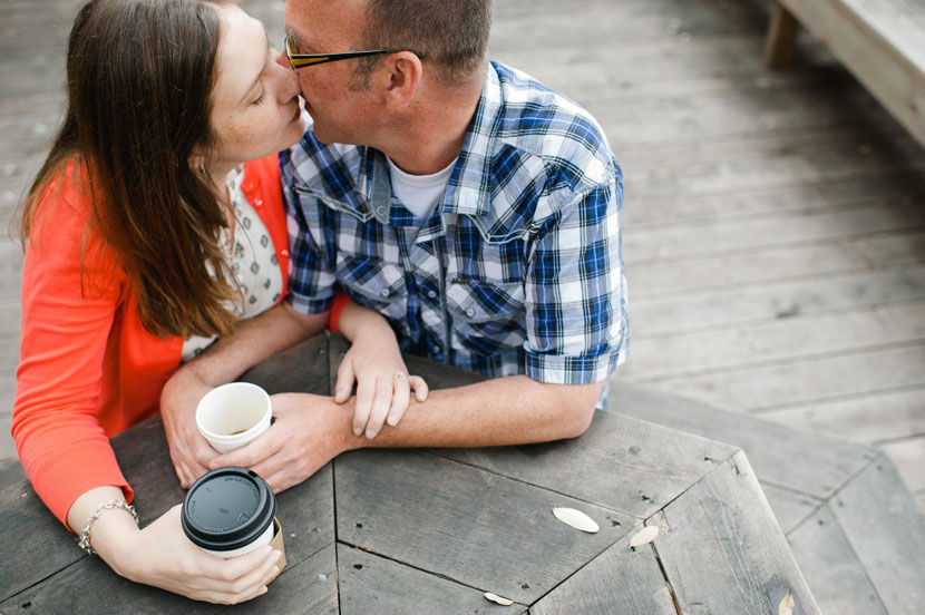 Cafe engagement pictures // Elissa R Photography