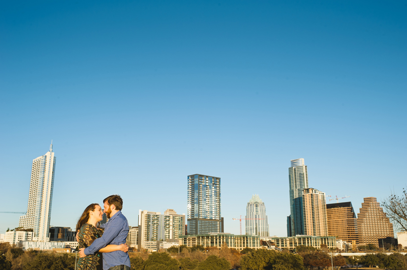 Austin skyline engagement pictures // Elissa R Photography
