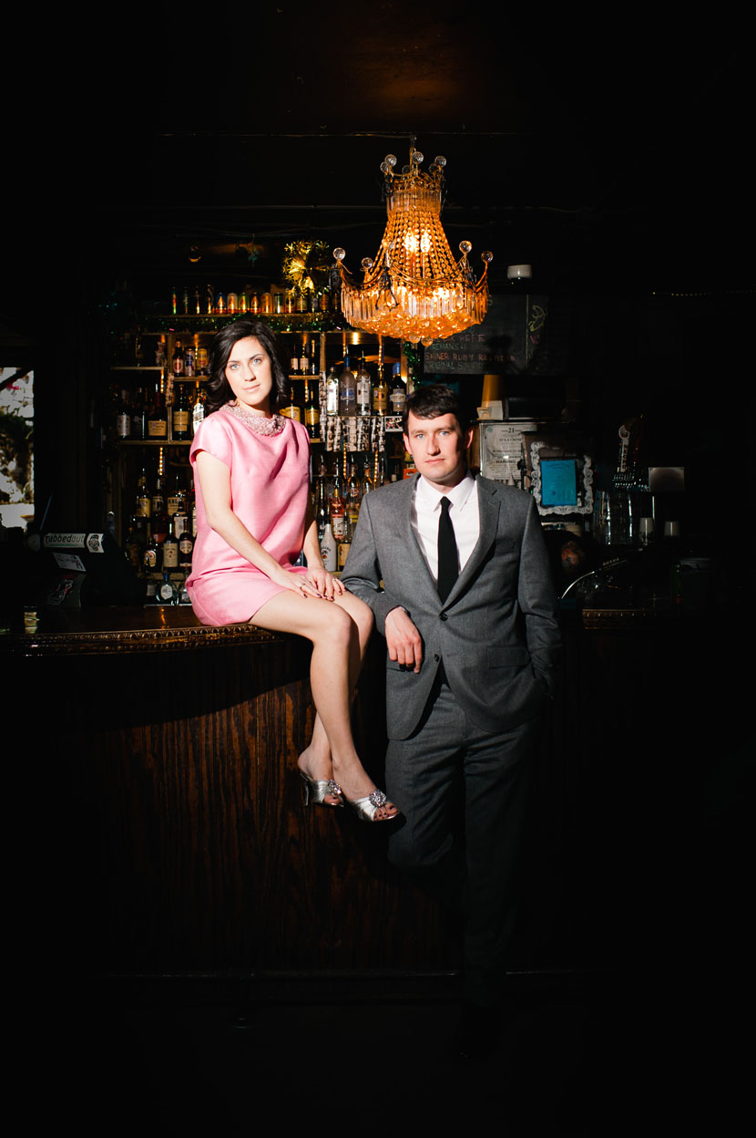 Mad Men engagement session // Elissa R Photography