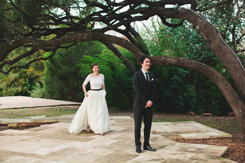 First look weddings // Elissa R Photography