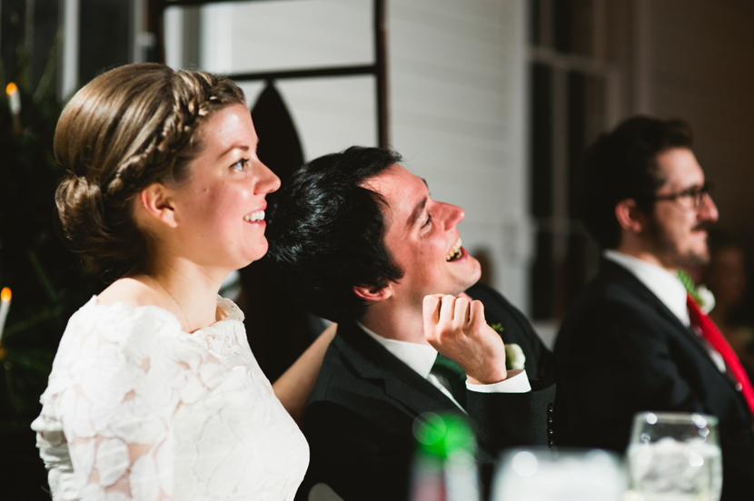 Laughing bride and groom // Elissa R Photography