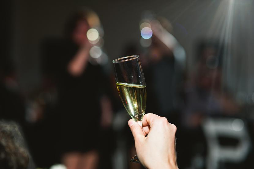 Champagne toast Austin wedding // Elissa R Photography