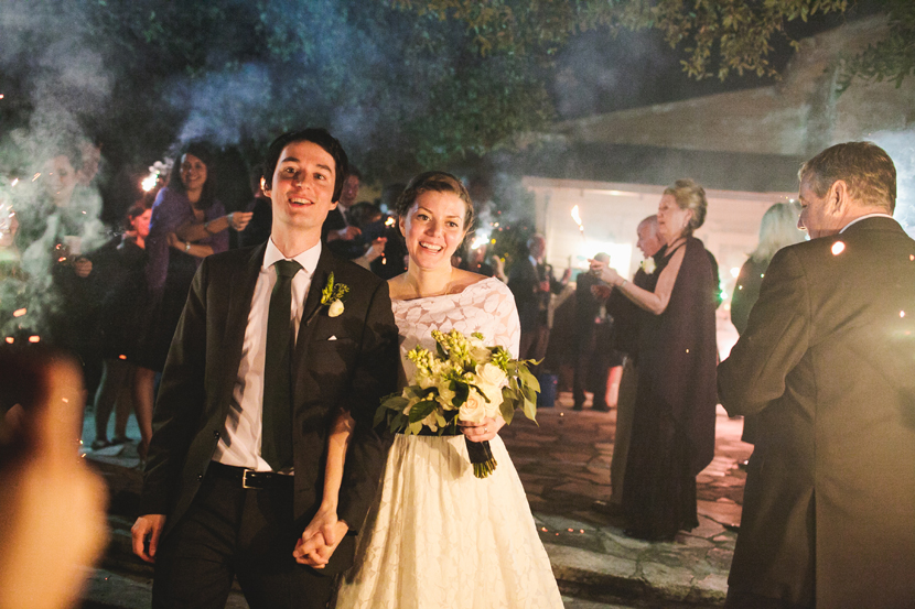 Exiting the wedding with sparklers - Mercury Hall Austin