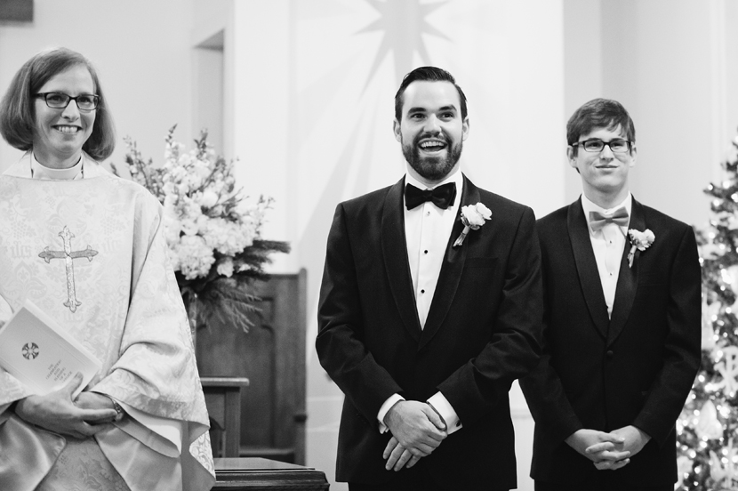 Great groom reactions // Elissa R Photography