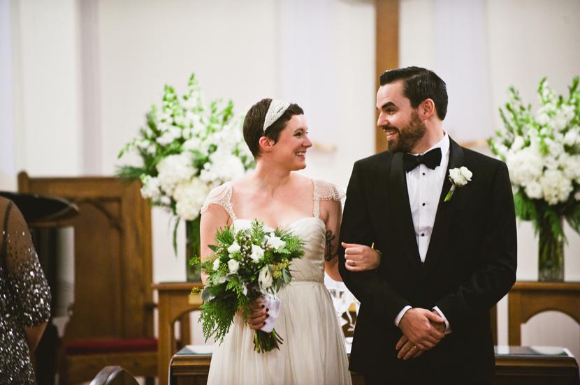 Short haired bride Austin // Elissa R Photography
