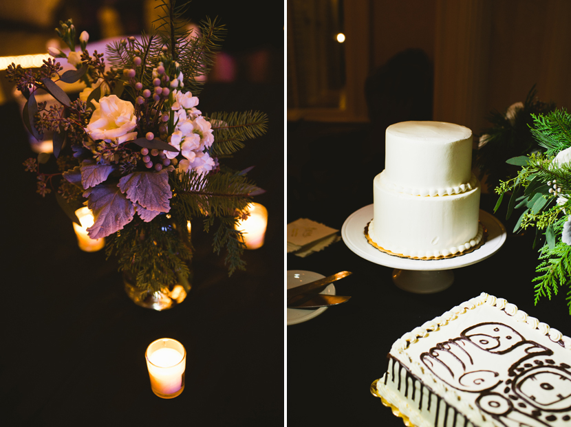 Simple white wedding cake // Elissa R Photography