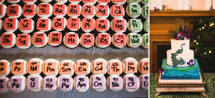 Nerdy science wedding cakes