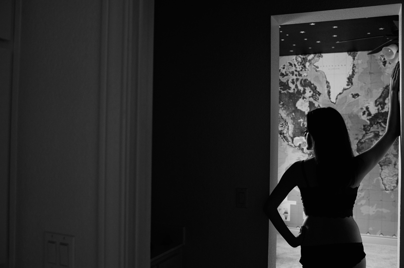beautiful boudoir silhouette
