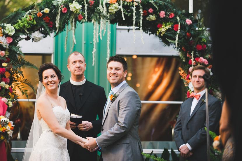 Fifty two twenty six Elm Houston wedding ceremony