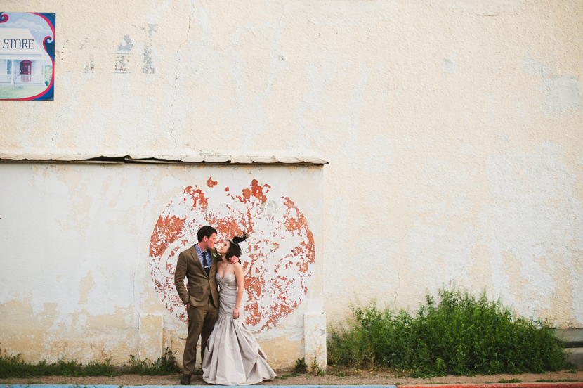 Watters designer wedding dress Louboutin shoes