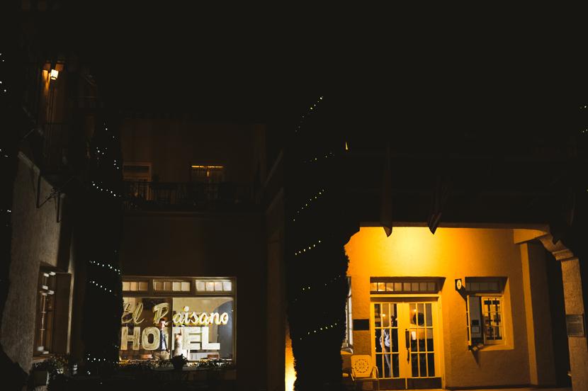Hotel Paisano at night