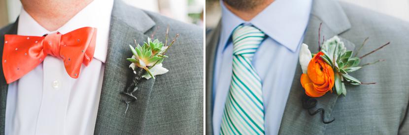 succulent groom boutonniere