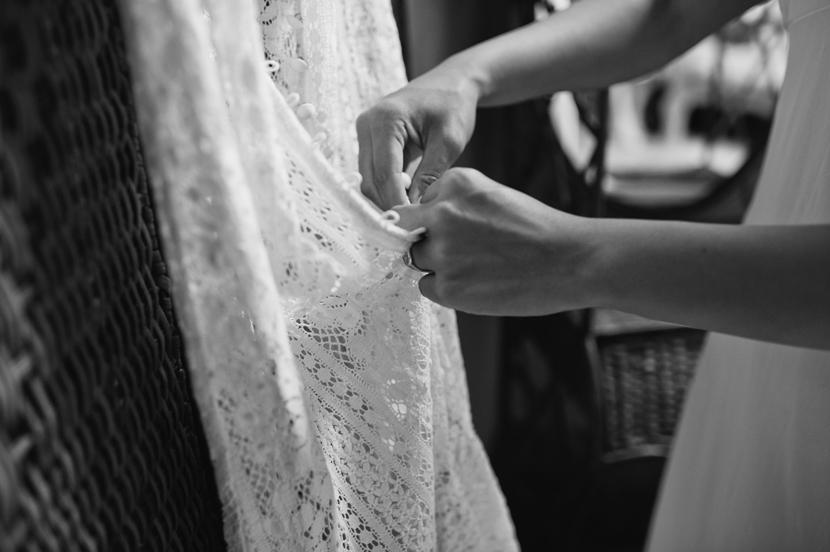 antique lace wedding gown