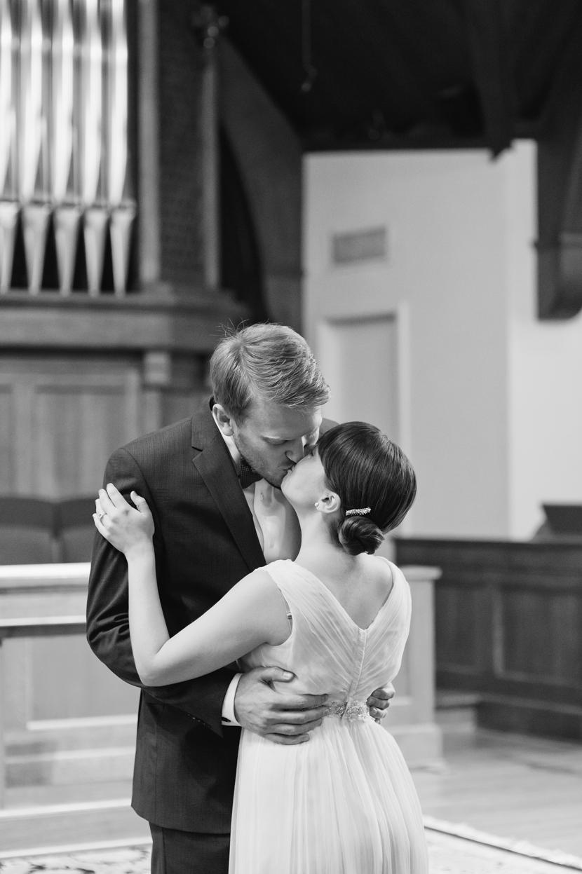 classic couple church wedding