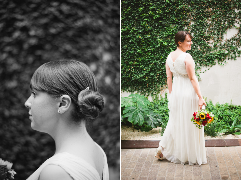 wedding chignon hair