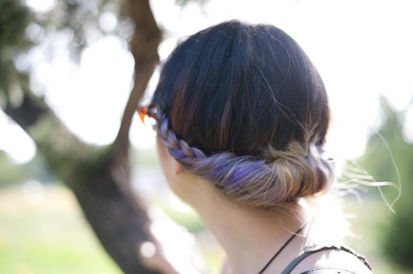 silver lavender hair