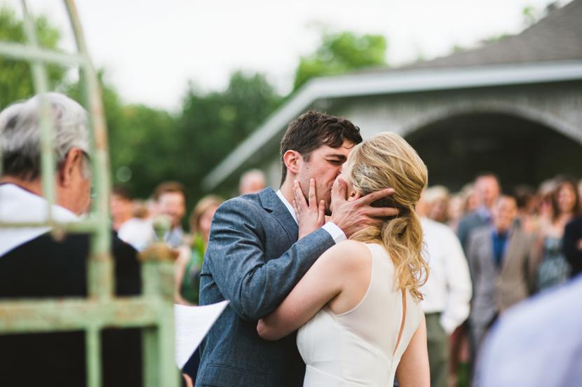 perfect first kiss wedding