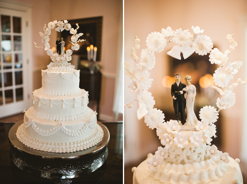 traditional wedding cake at a modern wedding