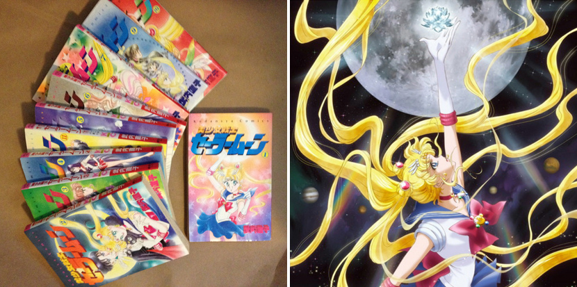 sailor moon crystal manga comparison