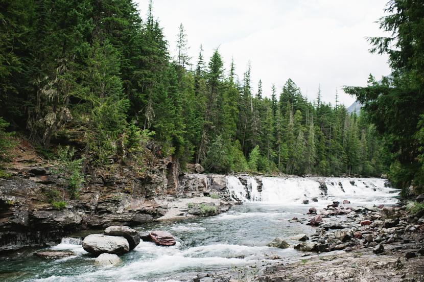 macdonald falls glacier natl park