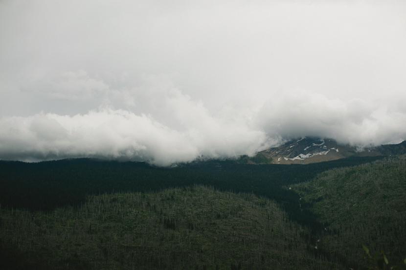 montana national park clouds