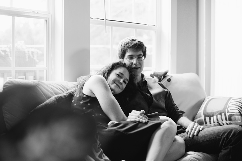 Hyde Park home engagement session