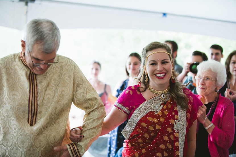 joyful bride